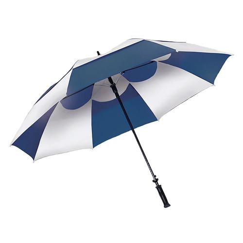 Wind Vent Umbrella - Blue/White