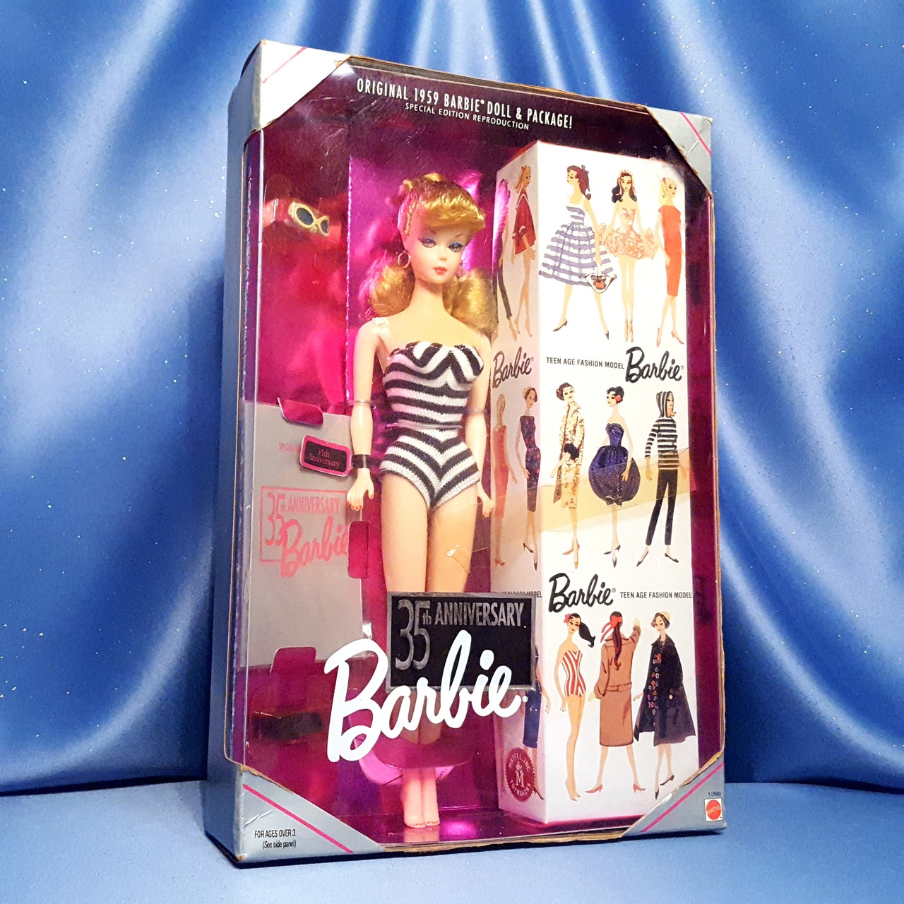 Sunglasses Shoes Booklet Barbie Reproduction 35th Anniversary Zebra Swimsuit