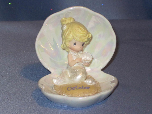 Precious Moments Mermaids of the Month: October Figurine by Enesco W/Box.