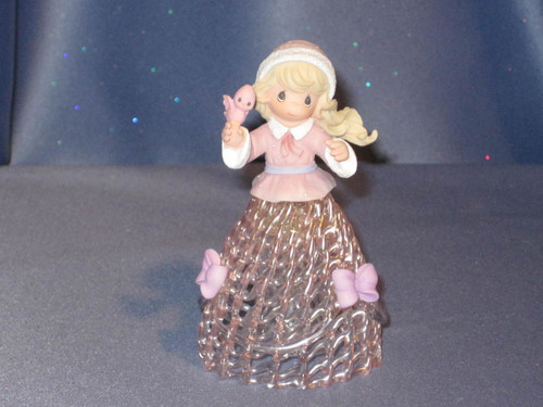 "Precious Moments ""Winter Belle"" Bell by Enesco W/Box."