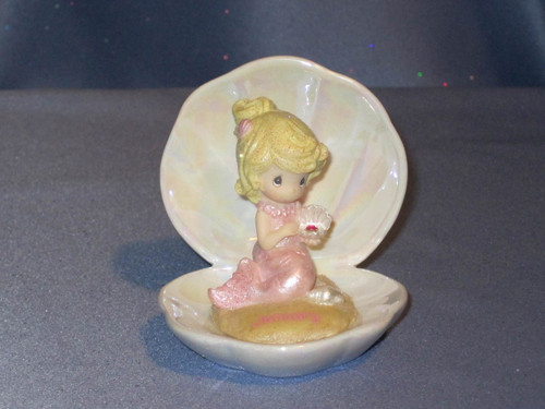 Precious Moments Mermaids of the Month: January Figurine by Enesco W/Box.