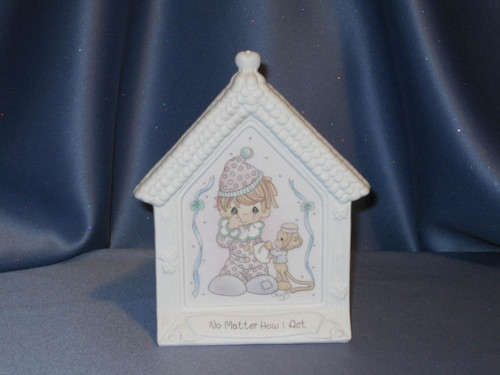 Precious Moments Clown With Tear Standing Plaque by Enesco W/Box.