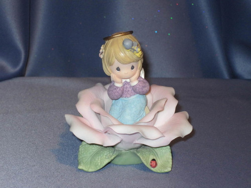 "Precious Moments ""Pink Rose of Sweetness"" Angel Figurine by Enesco W/Box."