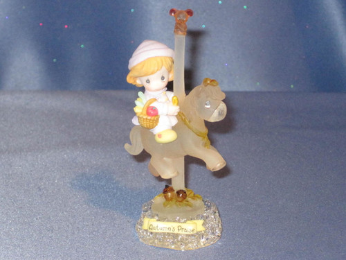 "Precious Moments ""Autumn's  Praise"" Carousel Horse Figurine by Enesco W/Box."