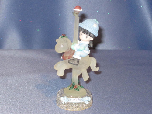 "Precious Moments ""Winter's Song"" Carousel Horse Figurine by Enesco W/Box."