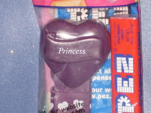 "Purple Valentine ""Princess"" Candy Dispenser by PEZ (B)."
