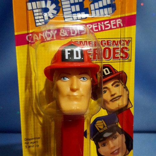 """Emergency Heroes """"Fire Fighter"""" Candy Dispenser by PEZ."""