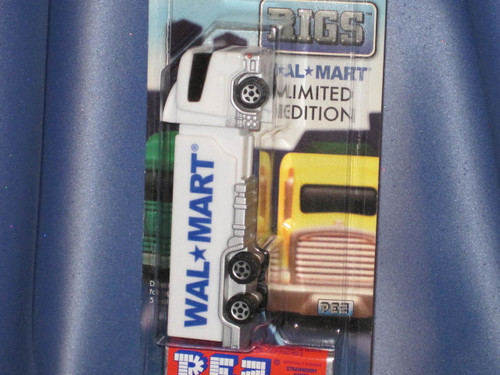 """Wal-Mart """"Rigs"""" Candy Dispenser by PEZ."""