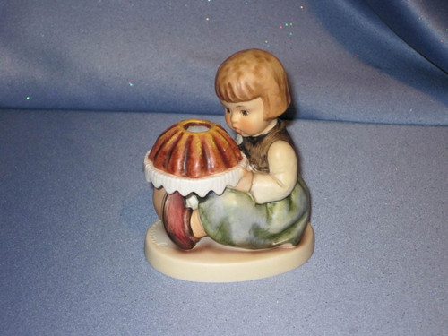 "M.I. Hummel ""Birthday Cake"" Candle Holder Figurine by Goebel."