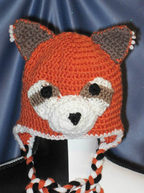 Red Panda Character Hat by Mumsie of Stratford.