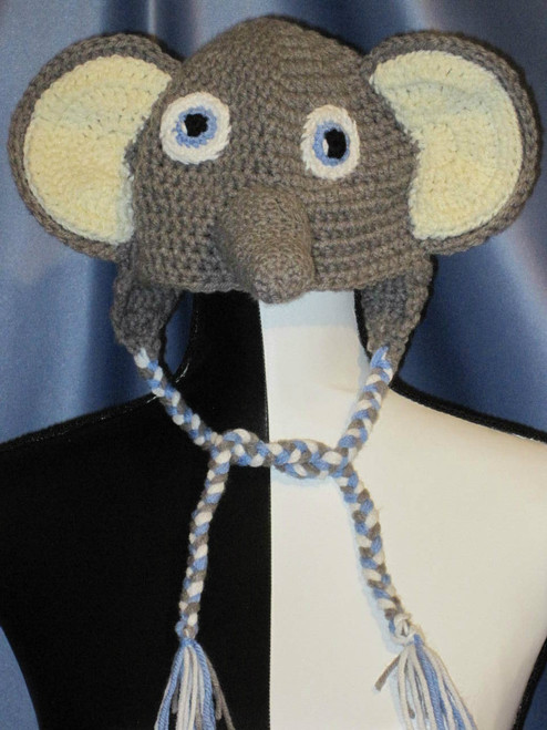 Baby Elephant Character Hat by Mumsie of Stratford.