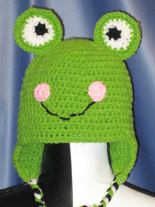 869ee17e36f Grinchy Hat with Tie Strings in Green.(Child Junior). - Now and Then ...