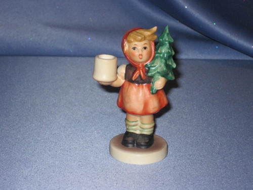 "M. I. Hummel ""Girl with Fir Tree"" Candle Holder Figurine by Goebel."