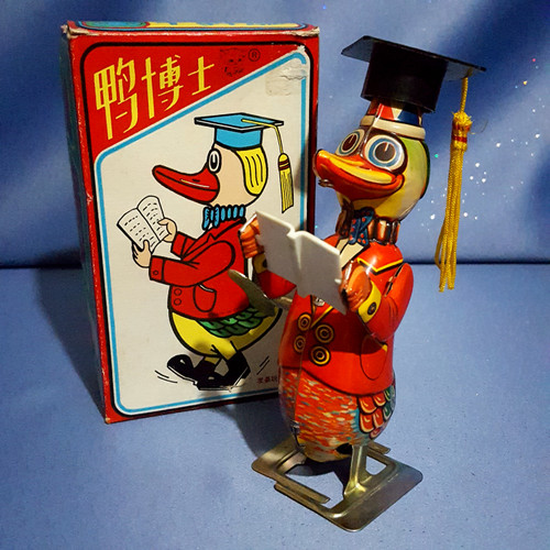 Dr. Duck - Wind Up Mechanical Tin Toy.