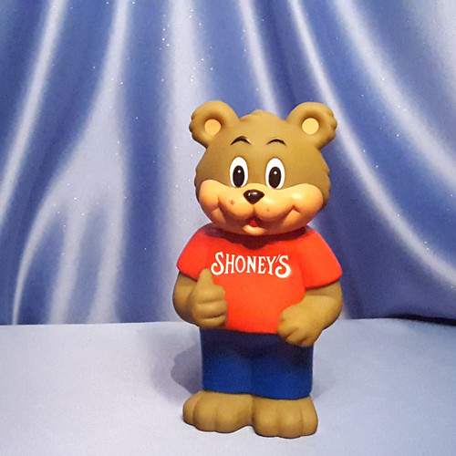 Shoney's Mascot Bear Advertisement Coin Bank - 1993.