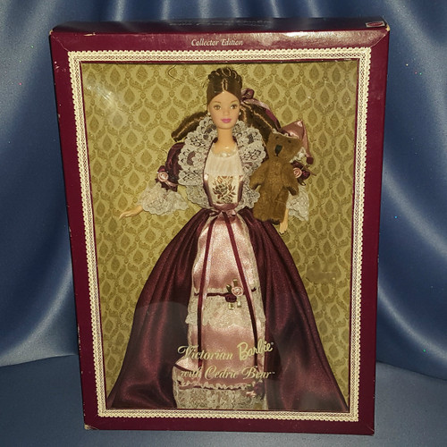 Victorian Barbie Doll with Cedric Bear by Mattel.
