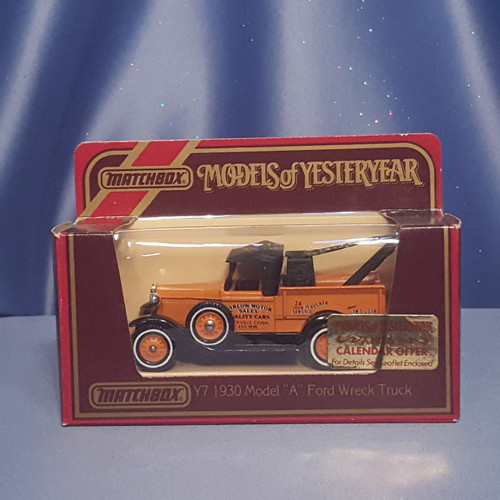 1930 Ford Model A Wreck Truck - Models of Yesteryear Y-7 by Matchbox.