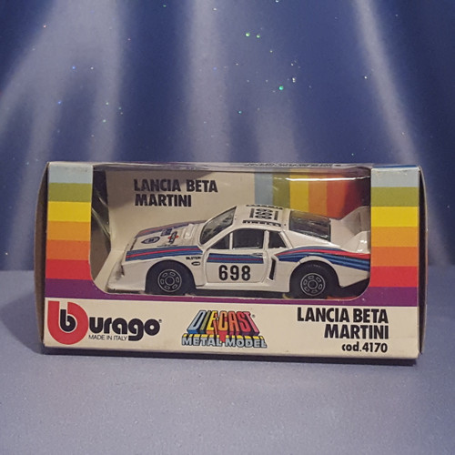 Lancia Beta Martini 1:43 Scale Car by Bburago.