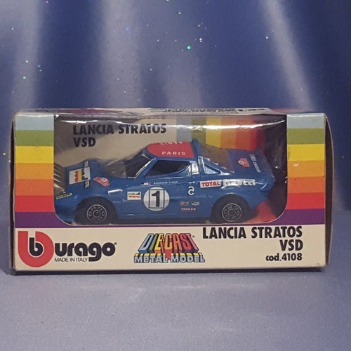 Lancia Stratos VSD 1:43 Scale Car by Bburago.