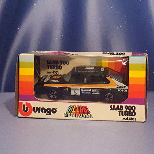 Saab 900 Turbo 1:43 Scale Car by Bburago.