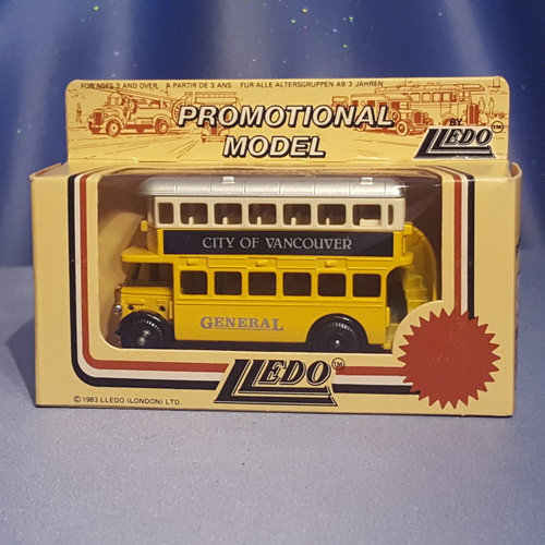 1930's Double Decker Bus - City of Vancouver - Models of Days Gone by Lledo.
