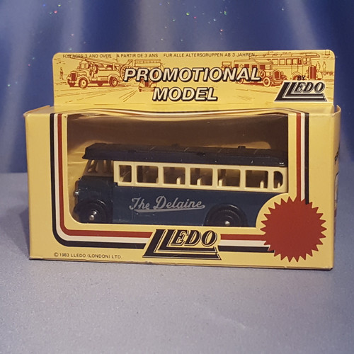 1930's Single Deck Bus - The Delaine - Models of Days Gone by Lledo.