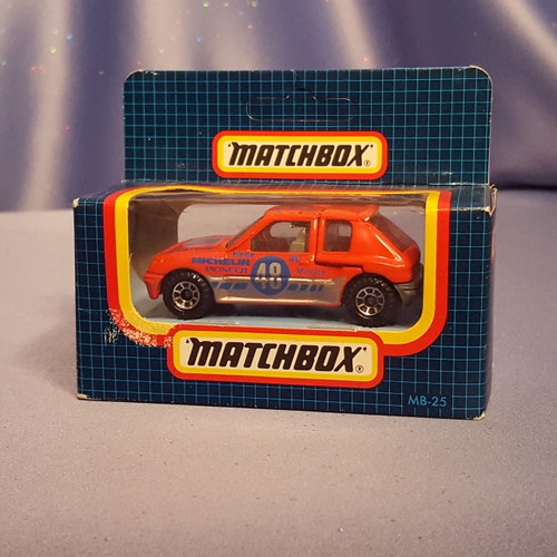 1984 Peugeot 205 Turbo 16 Car by Matchbox.