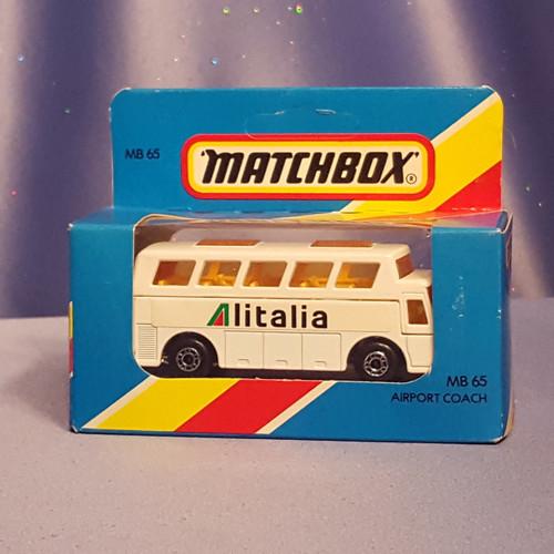 Alitalia Bus D' Aeroport MB-65 by Matchbox.