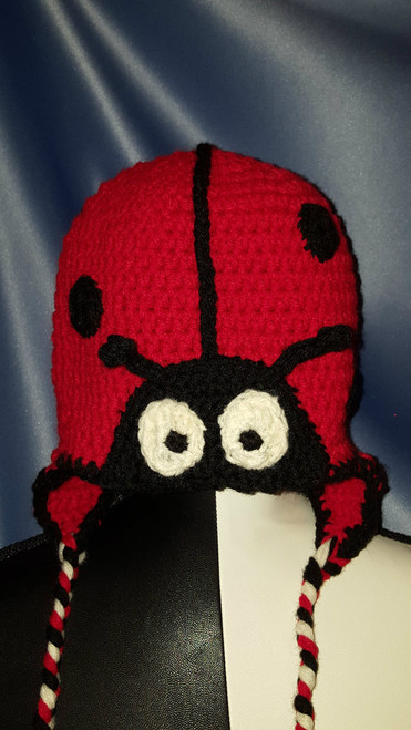 Ladybug Character Hat by Mumsie of Stratford.