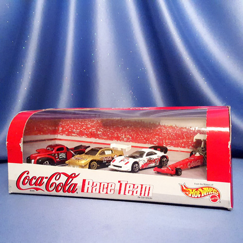 Coca-Cola Race Team 4 Piece Car Collection by Hot Wheels.