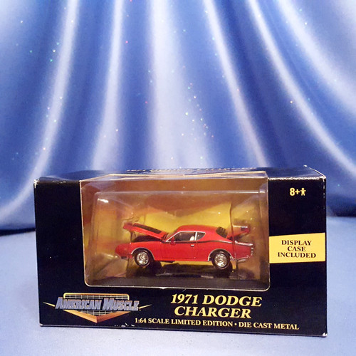 1971 Dodge Charger Car - American Muscle - Racing Champions - Ertl (Red).