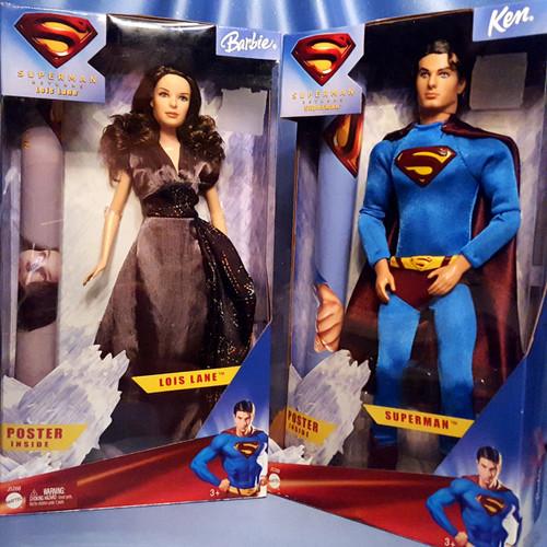 Lois Lane Barbie and Superman Ken