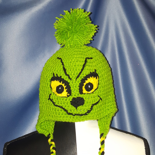 Grinchy Character Hat by Mumsie of Stratford.