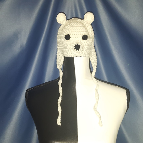 Sparkling White Polar Bear Character Hat by Mumsie of Stratford.