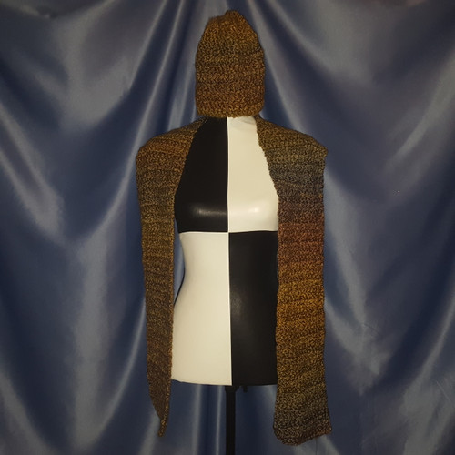 Hat and Scarf Set in Golden Browns by Mumsie of Stratford