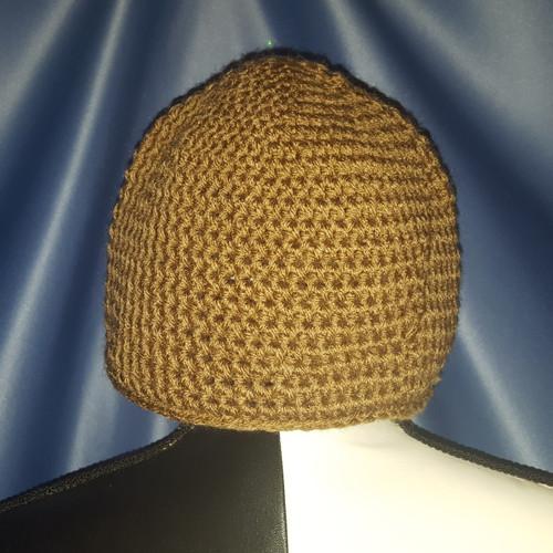 Beanie Hat in Light Brown by Mumsie of Stratford.
