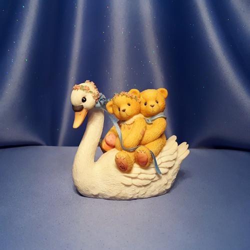 Cherished Teddies Swan Ride with Matt and Vicki Figurine by Enesco W/Box.