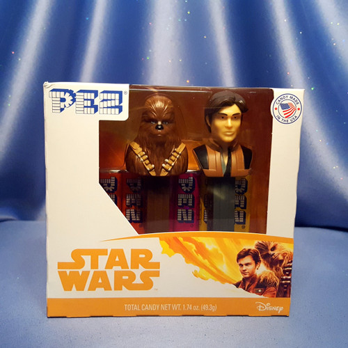 Star Wars Han Solo and Chewbacca Twin Pack Candy Dispensers by PEZ.
