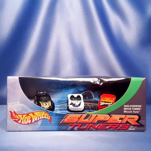 Hot Wheels Super Tuners Three Car Set by Mattel.