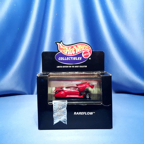 Hot Wheels Rareflow Custom Car Collectible with Case by Mattel.