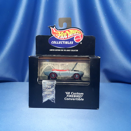 Hot Wheels 1968 Firebird Custom Car Collectible with Case by Mattel.