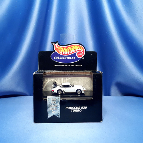Hot Wheels Porsche 930 Turbo Car Collectible with Case by Mattel.