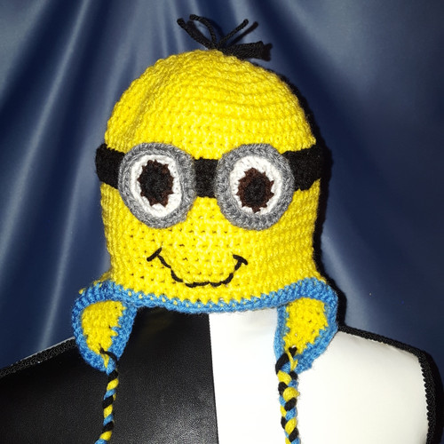Minion Character Hat by Mumsie of Stratford.