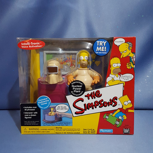 The Simpsons Interactive Nuclear Power Plant Environment w/Radioactive Homer by Playmates.