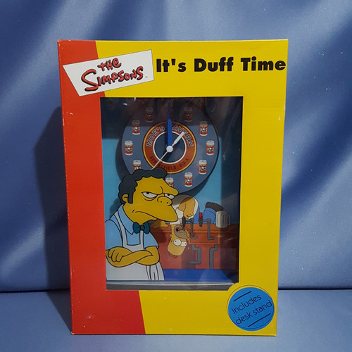 "The Simpsons ""It's Duff Time"" Moe's Tavern Clock by WESCO LTD."