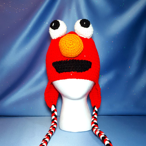 Elmo Character Hat by Mumsie of Stratford.