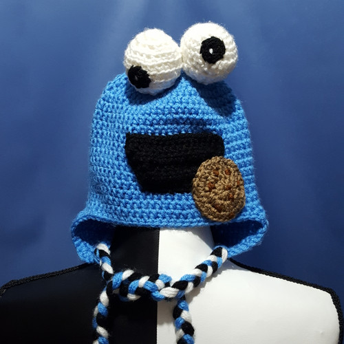 Cookie Monster Character Hat by Mumsie of Stratford.