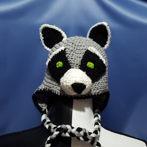 Raccoon Character Hat by Mumsie of Stratford