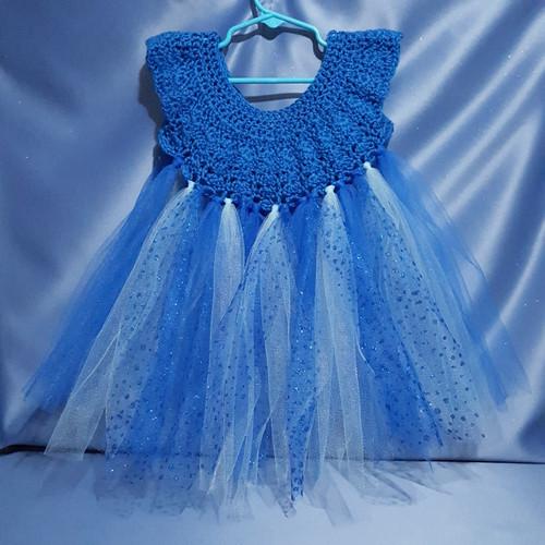 Tutu Dress In Blue by Mumsie of Stratford.