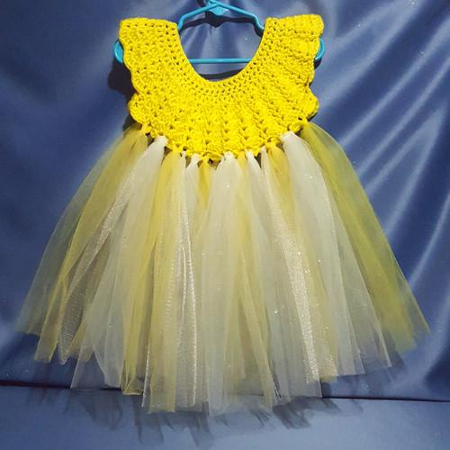 Tutu Dress in Yellow by Mumsie of Stratford.